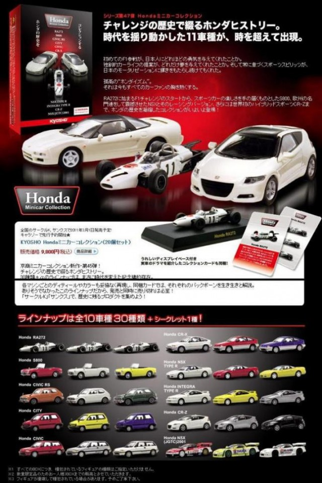Kyosho Honda Minicar Collection
