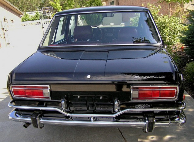 1971 Datsun 510 black rear
