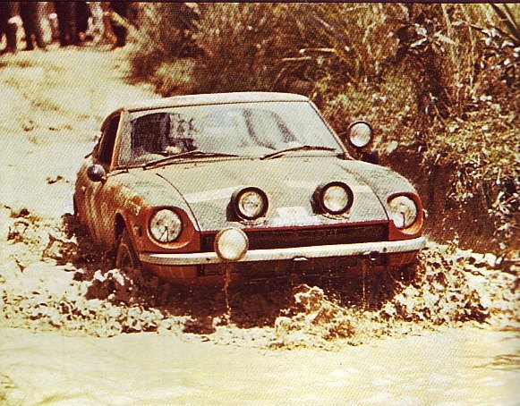 1971 East African Safari Rally Datsun 240Z Shekhar Mehta Mike Doughty