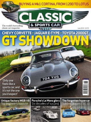 Classic & Sports Car Jaguar vs Corvette vs Toyota 2000GT