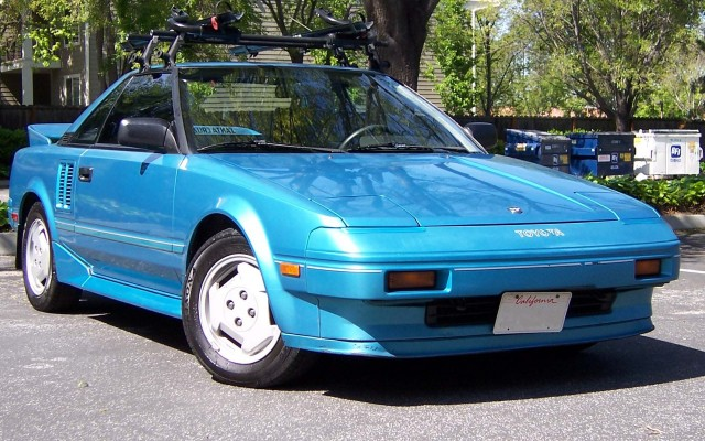 1986 Toyota MR2 8B8 Light Blue Metallic