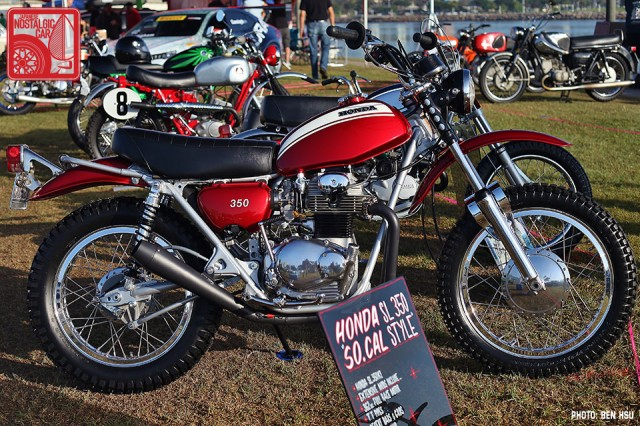 James Cargill brought a pair of matching Honda CR250M Elsinore s, one ...