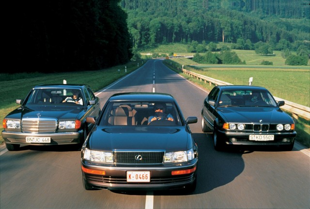 Lexus LS400 BMW 7Series Mercedes 420SEL