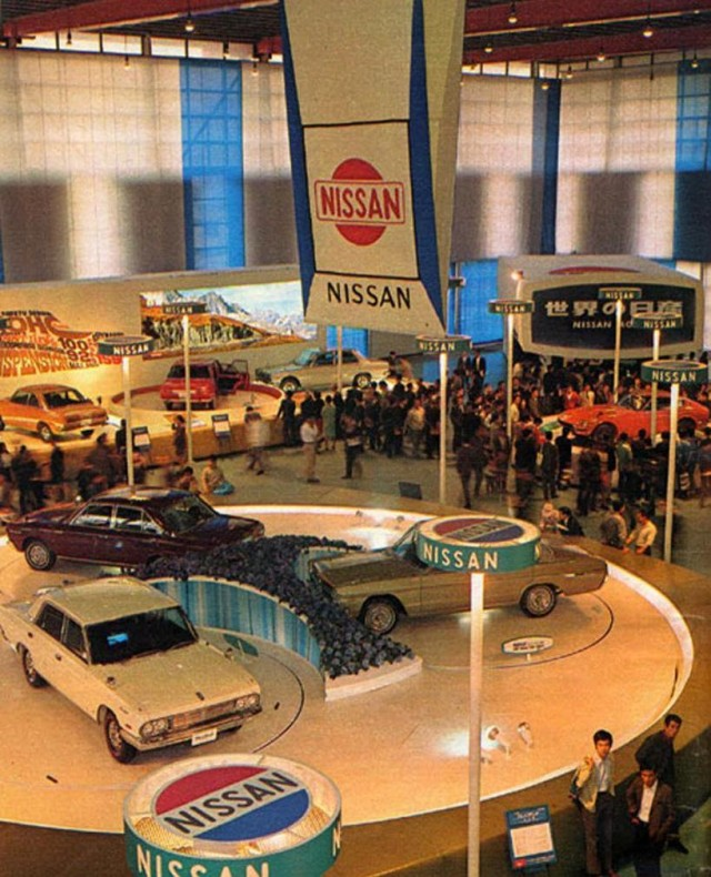 Japanese Car Displays From The Post War Miracle Years