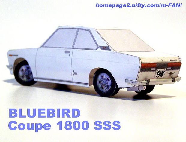 Nissan Bluebird 510 Coupe papercraft