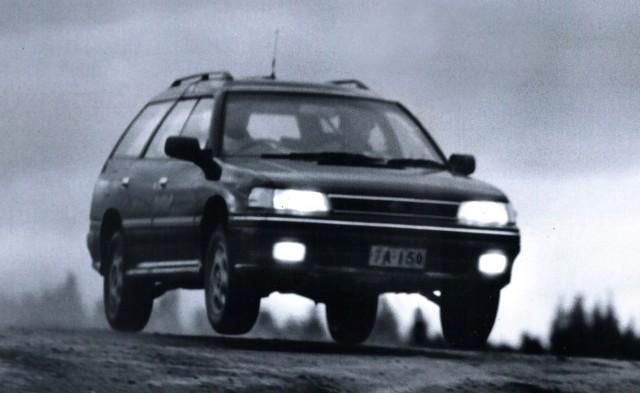 Subaru Legacy Wagon jump