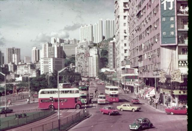 Hong Kong 1975 taxis buses