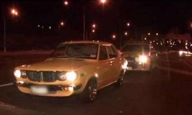 Aussie cop Mazda RX-3 pull over