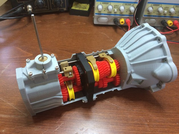 3D printed Toyota W56 transmission