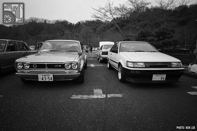 KL1128_NissanSkylineC10Hakosuka_ToyotaAE86CorollaLevin