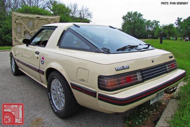 Mazda RX7 FB White Rear Three Quarter Team_Nostalgic Chicago