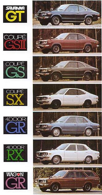 Mazda Savanna lineup