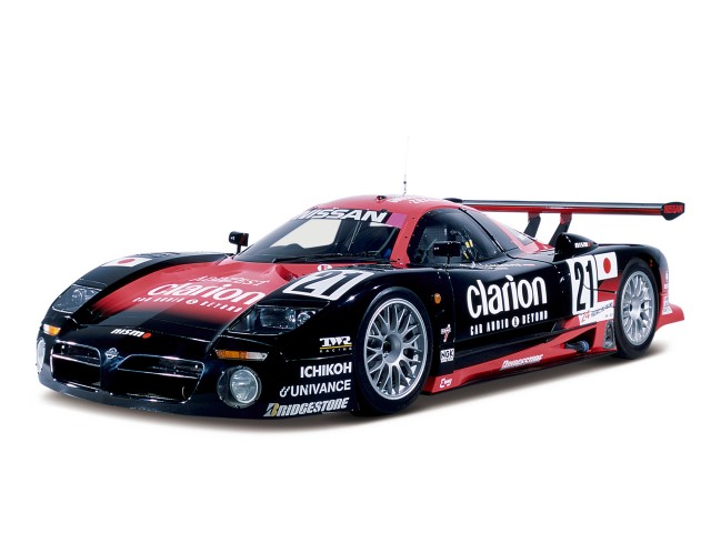 The Nissan R390 GT1 had a brief two-year racing career, including Le Mans. The mid-engine design utilized a 641-horsepower 3,495cc twin-turbo V6 engine with 470 lb-ft of torque. It was timed at 3.3 seconds 0 – 60 mph and 10.9 seconds at 155 mph for the ¼-mile. Two road car versions were built with a price tag of over million each.