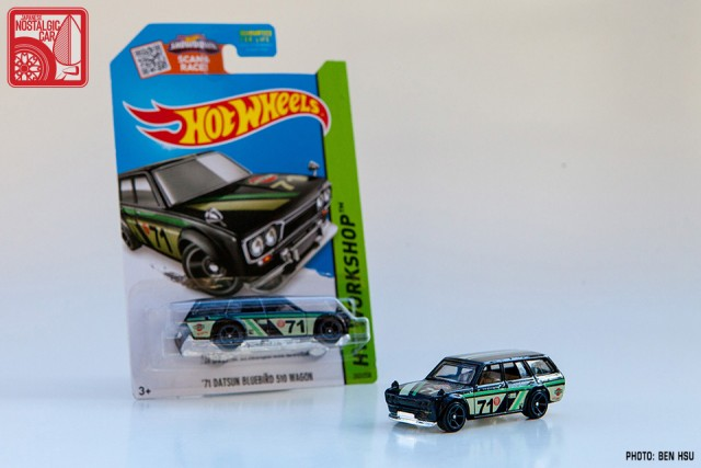 2015 Hot Wheels Datsun 510 Wagon - black Kmart 01
