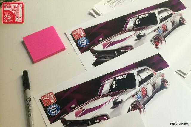 Hot Wheels Nissan Skyline Hakosuka JNC at JCCS sign sheet