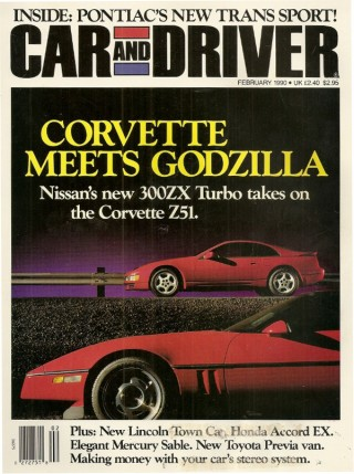 Car & Driver February 1990 Nissan 300ZX vs Corvette