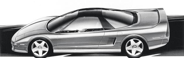 Honda Acura NSX design sketch
