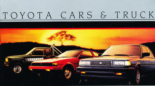 Toyota 1985 brochure cover