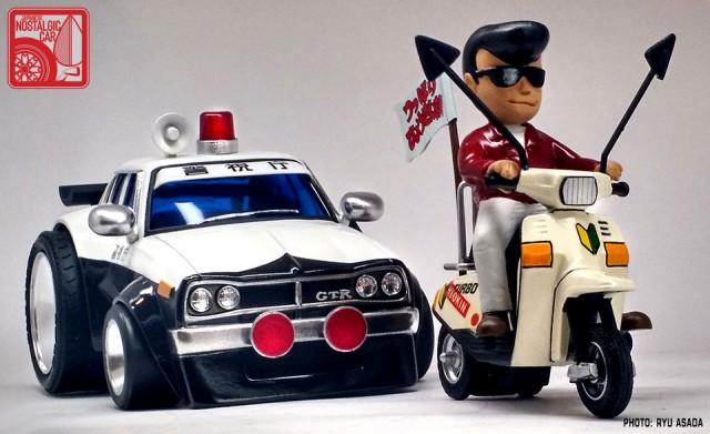 08_Gunze Nissan Skyline C10 Hakosuka Patrol Car kit by Ryu Asada