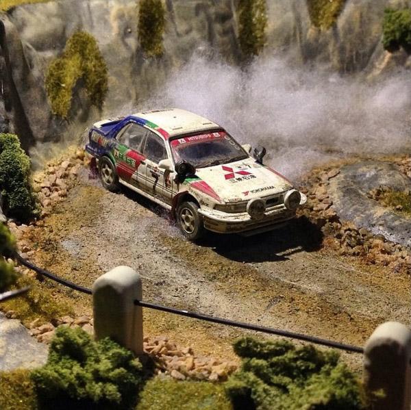 Takupon0816_Mitsubishi Galant VR4 1992 Safari Rally diorama | Japanese Nostalgic Car