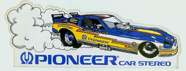 Datsun 280ZX Pioneer funny car sticker