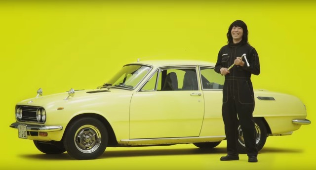 Yellow Hat Isuzu Bellett ad