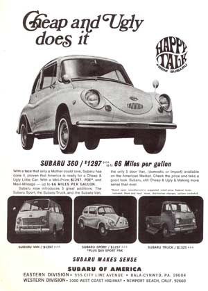 Subaru 360 ad Cheap and Ugly