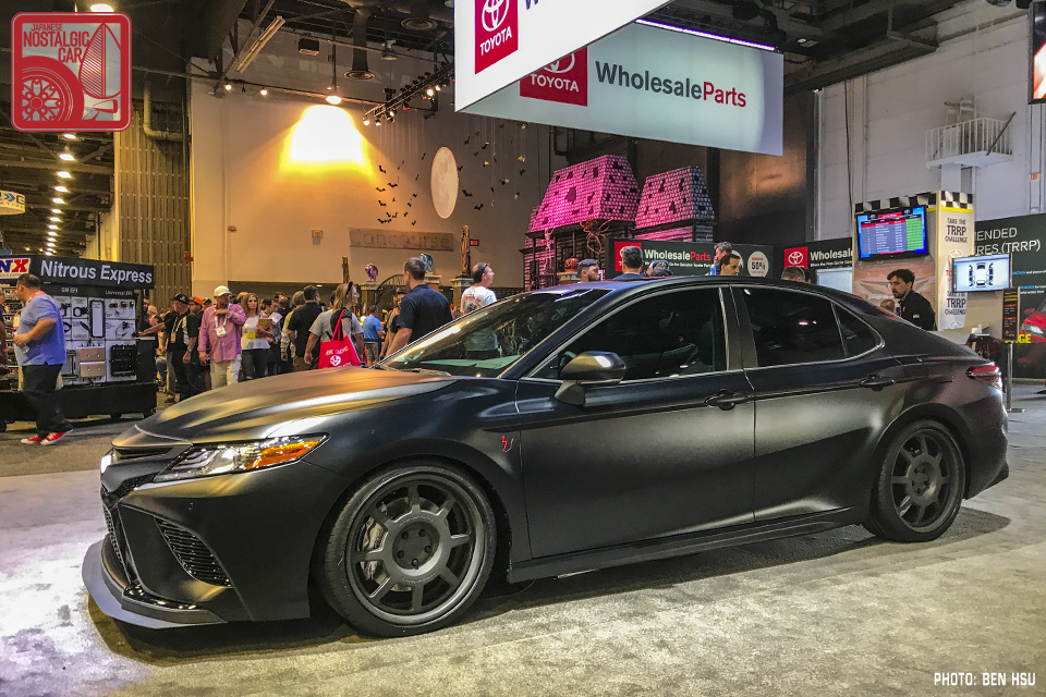 Update Actually What Hened Is That Toyota Gave Each Of Its Nascar Drivers A 2018 Camry To Do Build Plus One For Rutledge Wood Who Made The Blue