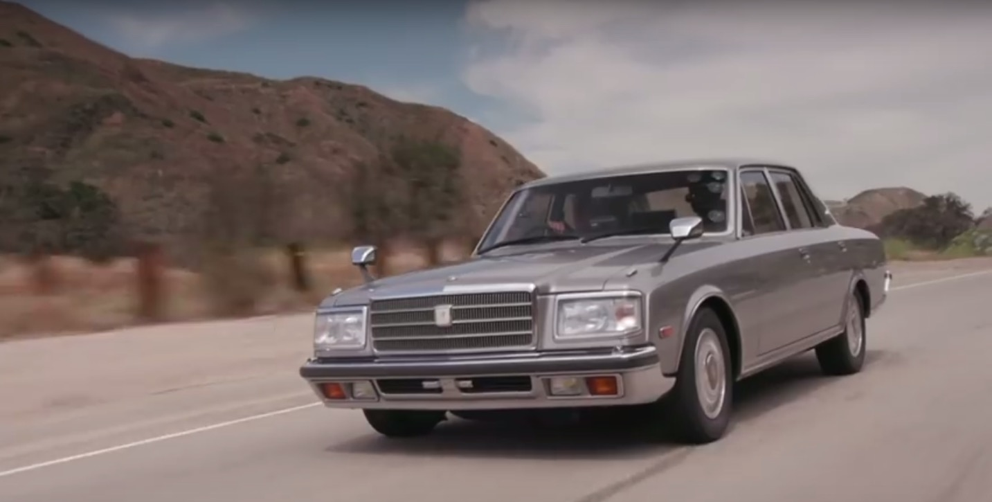 Its The Moment When Jay Leno Is Shown A Blood Stain In Trunk That He Really Warms Up To Toyota Century Whether Hemoglobin Or Not Isnt