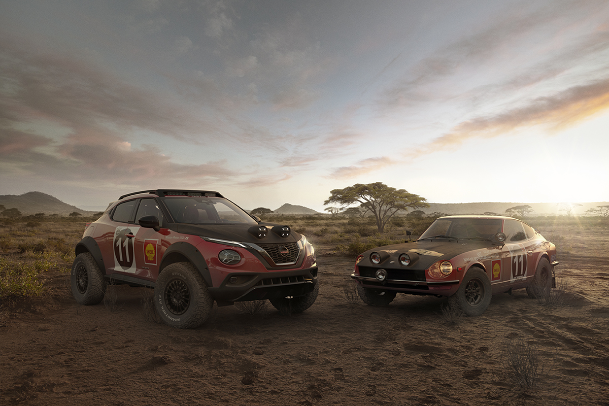 Nissan builds Datsun 240Z Safari Rally tribute from Juke ...